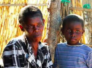 Temwa beneficiary Lucky, struggling to survive the current food crisis
